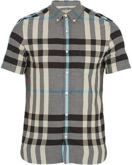 Moore House-check Cotton Shirt