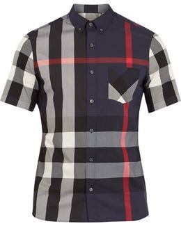 Thornaby House-check Print Cotton-blend Shirt