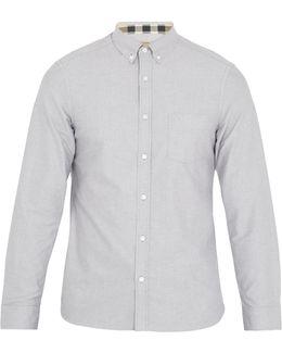 Reagan Point-collar Cotton-oxford Shirt