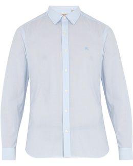 Moorside Striped Seersucker Cotton-blend Shirt