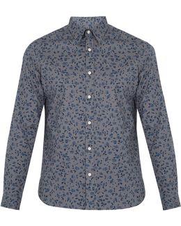 Connock Floral-print Cotton Popin Button-down Shirt