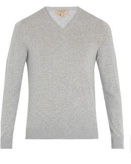 Randolf V-neck Cashmere-blend Sweater