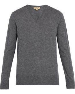 Kempton V-neck Wool Sweater