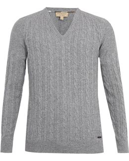Worthing Cashmere Cable-knit Sweater