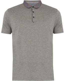 Contrasting-collar Cotton-piqué Polo Shirt