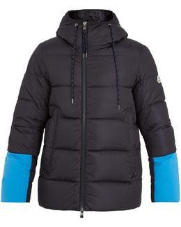 Drake Contrast-panel Quilted-down Jacket