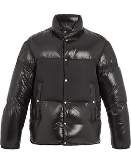 Aynard Contrast-panel Quilted-down Jacket