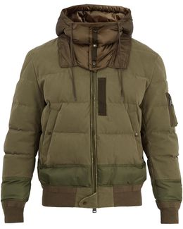 Leopold Hooded Stretch-cotton Bomber Jacket