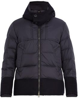 Dominique Contrast-trim Quilted Down Jacket