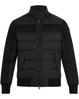 Aramis Wool-panel Quilted-down Coat