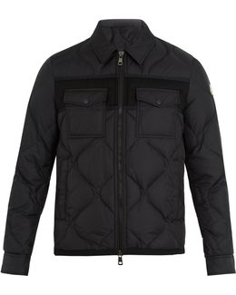 Stephan Point-collar Quilted-down Coat