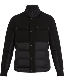 Decroux Contrast-panel Quilted Down Coat