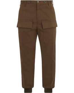 Relaxed-leg Cotton Cargo Trousers
