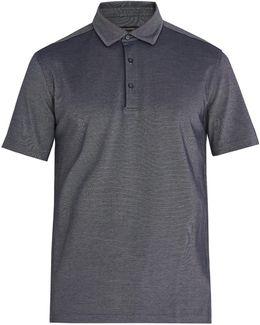 Piped-trim Cotton-piqué Polo Shirt