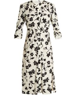 Pia Floral-print Crepe-cady Shirtdress