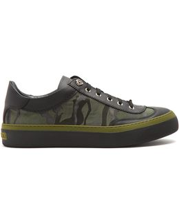 Ace Camouflage-print Low-top Trainers