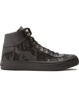 Argyle Camouflage-jacquard High-top Trainers