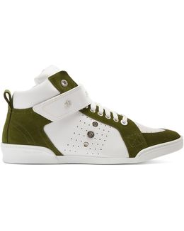 Lewis High-top Leather And Suede Trainers