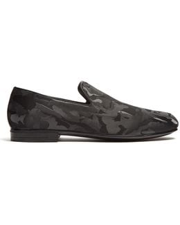 Sloane Camouflage-jacquard Loafers
