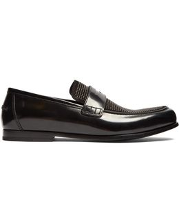 Darblay Studded-front Leather Penny Loafers