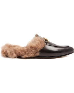 Princetown Fur-lined Leather Loafers