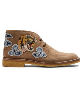 New Moreau Embroidered Suede Desert Boots