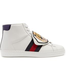 New Ace High-top Leather Trainers