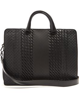 Intrecciato Imperatore Leather Briefcase