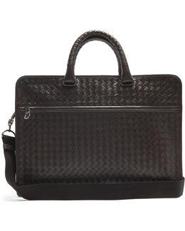 Intrecciato Leather Briefcase