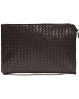 Intrecciato Leather Document Holder