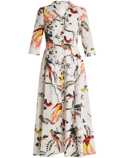 Kasia Paisley Parrot-print Cotton Shirtdress