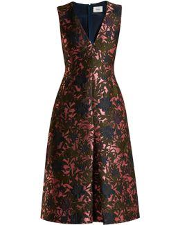 Kamila Floral-jacquard Midi Dress
