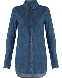 Arlette Point-collar Cotton-chambray Shirt