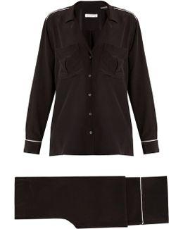 Sonny Long-sleeved Silk Pyjama Set
