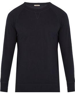 Crew-neck Cotton-blend Jersey Top