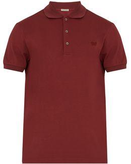 Logo-embroidered Cotton-piqué Polo Shirt