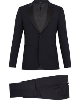 Satin-lapel Wool-blend Tuxedo