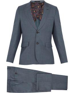 Peak-lapel Single-breasted Wool Suit