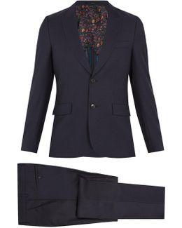 Single-breasted Birdseye-wool Suit