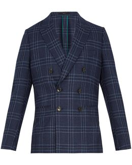 Soho-fit Checked Wool-blend Blazer