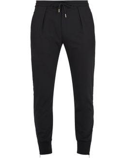 Zip-cuff Slim-leg Wool-blend Trousers
