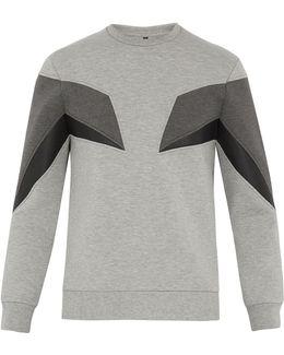 Geometric-panel Stretch-neoprene Sweatshirt