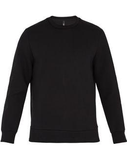 Chevron-embroidered Neoprene Sweatshirt