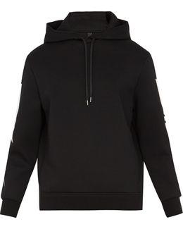 Lightning-bolt Appliqué Hooded Neoprene Sweatshirt