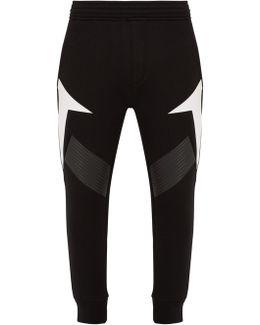 Tapered-leg Neoprene Track Pants
