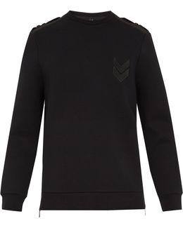 Badge-appliqué Stretch-neoprene Sweatshirt