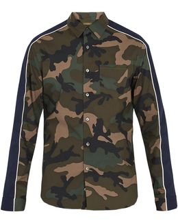 Camouflage-print Cotton Shirt