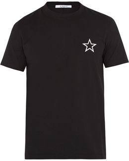 Cuban-fit Star-print Cotton T-shirt