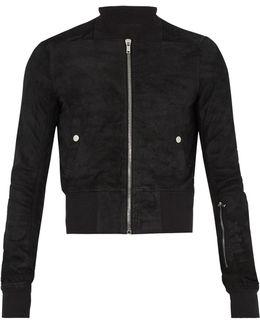 Blister-leather Bomber Jacket