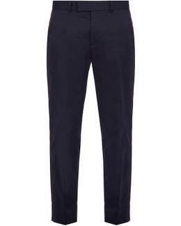 Side-stripe Cotton Trousers